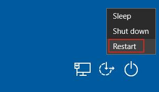 Click Shift and Restart key