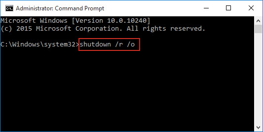 type shutdown command