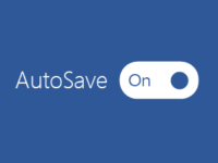 Turn on Autosave