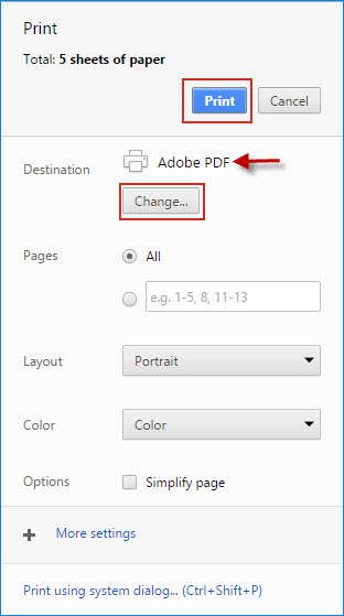 Select Save as PDF