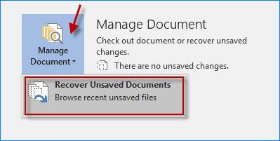 Recuperar documentos no guardados