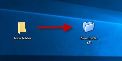 Изменить значок папки с файлами