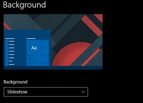 Set Desktop background as Slideshow