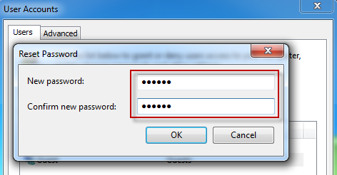 Assign password for Guest