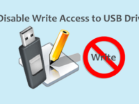 disable write access to usb drive