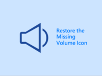 Restore the missing speaker icon