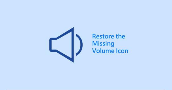 Restore the missing speaker icon