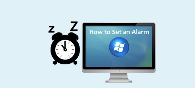 set alarm on windows 10
