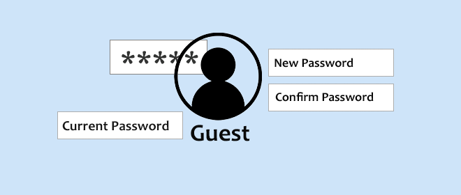 set password for guest account