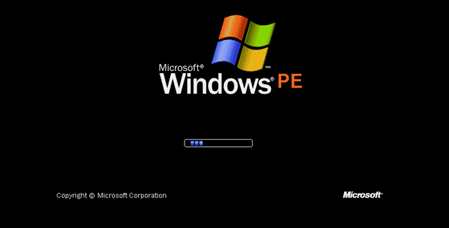 loading Windows PE