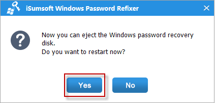 Click Yes and Remove USB