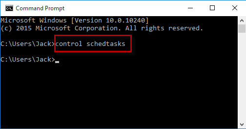 Run control schedtasks in cmd