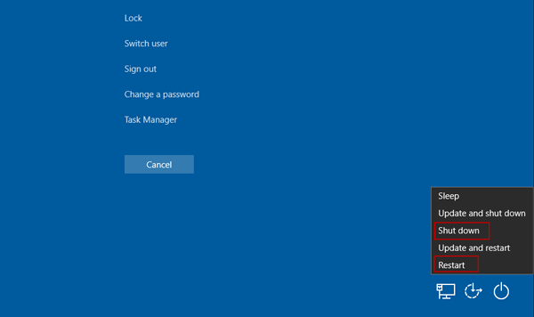how to add lock to power button in windows 10