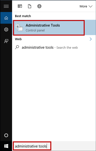 Search administrative tools