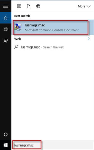 Search lusrmgr.msc