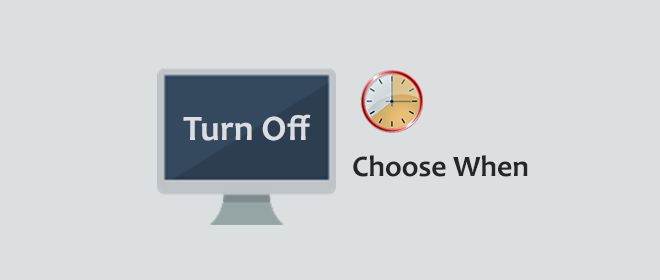 choose when to turn off display