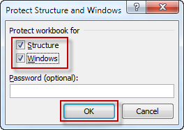 Check Structure and Windows option