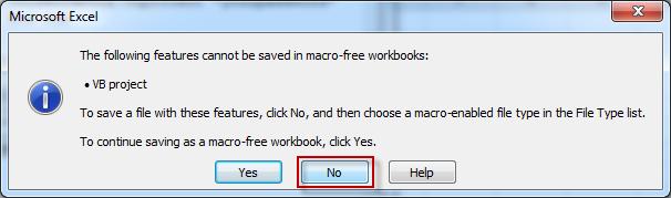 Click No