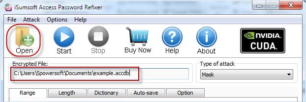 Add database file path