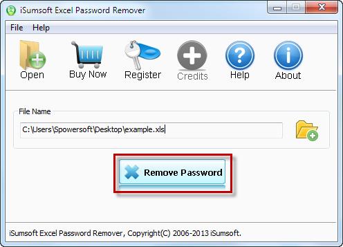 Eliminar contraseña para abrir con el software