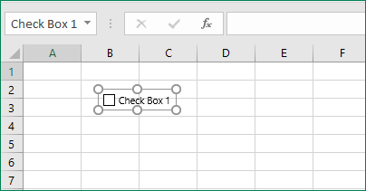 Click in cell to add checkbox