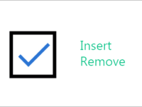 Insert or remove checkbox in Excel