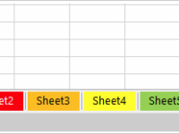 Change worksheet tab color