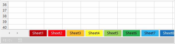 Change worksheet tab color