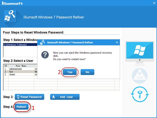 Click Reboot