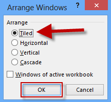 select how to arrange windows