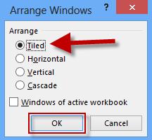 Select how to arrange windows
