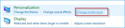 Click Change screen saver