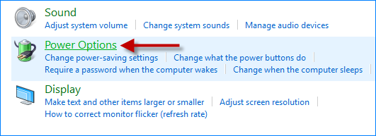 Click Power Options