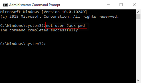 how to get the admin password on windows 10
