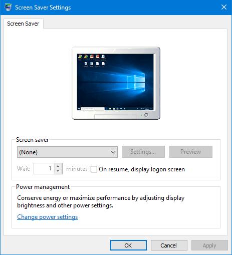 open Screen Saver Settings
