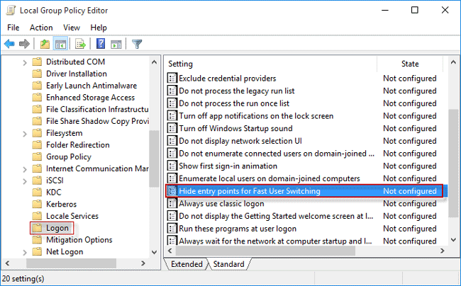2 Ways to Hide Fast User Switching in Windows 10/8/7 | iSumsoft