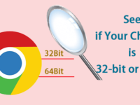 see if chrome is 32-bit or 64-bit