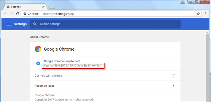 view version of chrome