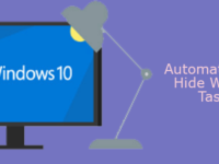 automatically hide Windows 10 taskbar