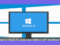 check if a disk uses MBR or GPT partition