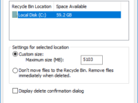 open recycle bin properties