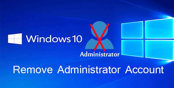 remove administrator account