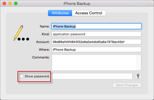 Click Show Password