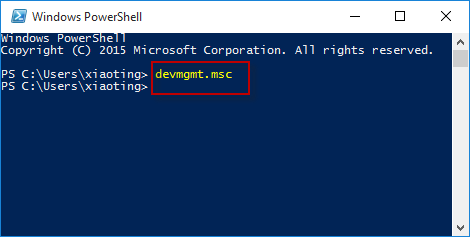 type command in powershell