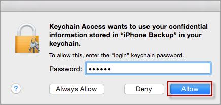Type login keychain password