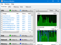 open Windows 10 Resource Monitor