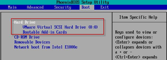 select hard drive