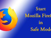 start firefox in safe mode