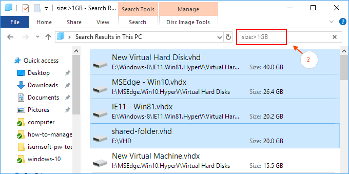 Find and delete large files