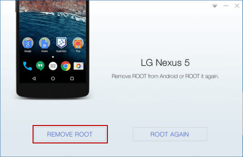 Remove Root from Android